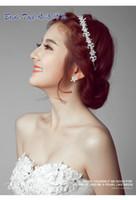 Cheap Clear Wedding Bridal Crystal Tiara Crowns Princess Queen Pageant Prom Rhinestone Veil Flower Headband Wedding Hair Accessory
