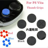 Wholesale 6 in in1 Silicone Button Protector Analog Thumb Stick Cap Cover Kit grip for PSV PSP Slim PS Vita DHL FEDEX