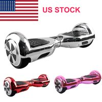 Wholesale US STOCK Chrome Inches Wheels Smart Balance Wheel Hoverboard Electric Skateboard Unicycle Drift Self Balancing Scooter