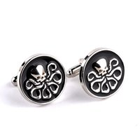 best shirts for men brands - 2016 hot sale Hydra Black Enamel Cuff links For Mens Best Friend Shirt Brand Cool Cuff Buttons gift for gentle men whosale drop shipping