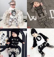baby suits designs - 8 Design Infant Baby Clothes Set Boys Girls Cute Cartoon Kids Clothing Suit With Long Sleeve Pants For Chrismas Gift Cotton