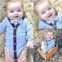 baby bow jumpsuit - Cute Toddler Kids Baby Girl Boy Clothes Cotton Bodysuit Romper Jumpsuit Outfits with bow tie