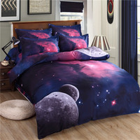 Cheap 3d Galaxy bedding sets Twin Queen Size Universe Outer Space Themed Bedspread 3pcs 4pcs Bed Linen Bed Sheets Duvet Cover Set