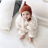 Wholesale 2016 Infant Baby Girls Fleece Rompers Toddler Princess Jumpsuit Babies Autumn Winter Warm Cute Romper Bebe christmas clothing