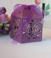 Wholesale laser cut favour boxes Laser Cut Carriage Gift Candy Bomboniere Boxes Wedding Party Favor Baby Shower