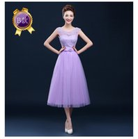 Wholesale New champagne bridesmaid dress long section sisters skirt evening dress marriage dress