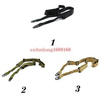 Wholesale freeshipping Tactical Sling Dual Point Swivels Strap Multi Mission Adjustable for Rifle Gun