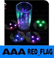 Wholesale Christmas LED Flashing Bottle Coaster Sticker For Drinks Glasses For Night Club And Bars Beer Party Decoration Factory Price by DHL LLY161