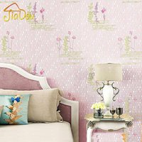 Wholesale 3D Embossed Pastoral Non woven Wallpaper Living Room Bedroom Children s Room English Letters Background Decorative Wall Paper