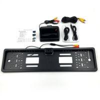 backup camera license plate - 4 inch Foldable Digital TFT LCD Monitor Car License Plate Frame Car Rear View Camera European Car Backup Monitor
