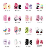 Wholesale New Fashion nail stickers Dots Butterfly Cartoon Korean natural nail sticker affixed to children Woman polish stickers BJ075