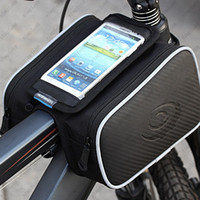 Wholesale Waterproof Roswheel L Cycling Bike Bicycle Front Frame Bag Tube Pannier Double Pouch for in Cellphone