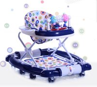Wholesale Infant Baby love Walker Patio furniture Baby Multifunctional Walker with Strong Bottom Simple Plate Height Adjustment Music Foldable