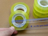 Wholesale 2016 Hot New High Quality Office and School Transparent Tape Single Sided Office Stationery mm Width Promotion Price