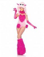 Wholesale Sexy Halloween Costume For Women Furry Cotton Candy Monster Animal Costumes Uniforms