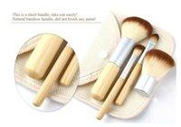 beautiful kits - Free DHL Makeup Brushes Set Kit Beautiful Professional Bamboo Elaborate make Up brush Tools With Case zipper bag button bag