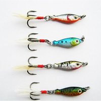 Wholesale 50pcs Lead Fishing Lure MINI LEAD FISHING LURE BASS WALLEYE G Fishing Crankbait Lure Lead Jigs LB003