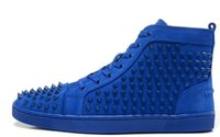 Cheap New arrival mens womens matter leather with Spike Studded high top sneakers,designer causal flat sports shoes 36-46