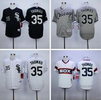 Wholesale Chicago White Sox Frank Thomas Throwback Jersey white M N Embroidery Newest Baseball Jerseys Best1