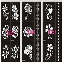 Wholesale Sheet Style Hand Painted Hollow Mold Inkjet Tattoo Henna Templates Stickers For DIY Tools Professional New Body Painting Kit