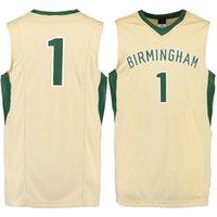 NO.1 UAB Blazers Hommes College Jersey broderie Athletic Outdoor Vêtements Hommes Sport Maillots SizeS-3XL Livraison gratuite
