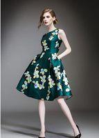 advanced art - AUDEALBANO Advance Sale Texture Casual Printemps Floral Print Ties Waisted Art Deco Pleated Women Knee Length Dresses