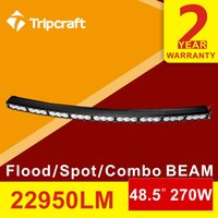 amber tractor lights - 48 inch w Curved LED Bar amber white Combo Beam Offroad V LED Light Bar ATV SUV x4 Truck Trailer Camper Tractor RZR