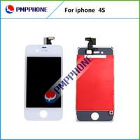 Bonne qualité 10 pcs / lot Livraison gratuite écran LCD avec verre Digitizer écran tactile de remplacement pour l'iPhone 4s