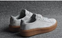 creepers - 2016 Suede Creeper Black Star White Black Women Men Casual Shoes Fashion Ladies Rihanna shoes sneakers women men