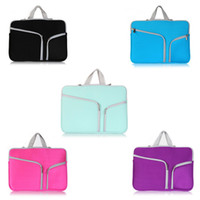 Wholesale Luxury Zipper Liner Sleeve Bag Cover Case For ALL Laptop inch Macbook Air Document Handbag Accessory Pouc