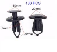 Wholesale 100pcs mm Hole Plastic Rivets Fastener Push Clips Black for Car Auto Fender YY094