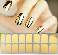 Wholesale New Hot Fashion Smooth Gold Foil Armour Nail Sticker Art Decoration Sticker Patch Wraps Professional Sheet