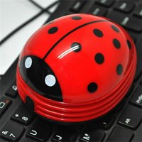 beetle battery - Mini Portable Keyboard Cleaner Robot Desktop Computer Clean Tool Dust Collector Electric Battery Operated Kawaii Beetle Cleaner
