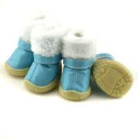 alligator mirror - Blue Pink shoes setDot Bronzing Mirror PU leather pet shoes Lining Flannel Cheap shoes alligator