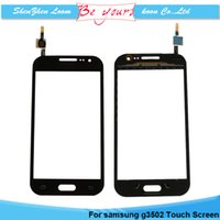 Wholesale Front Panel Touch Screen Digitizer for Samsung Galaxy Core Plus G350 Touch Screen Glass Lens Replacement Black White