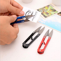 Wholesale 6 hot sale new high quality U shaped mini stainless steel scissors sewing multi functional hand tools pack