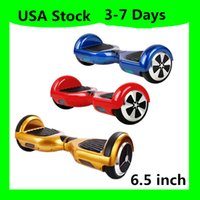 Wholesale USA Warehouse Mini Skateboard Smart Scooter Self Balancing Wheel Electric Hoverboard no Bluetooth LED Scooters Smart inch Two Wheels