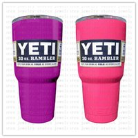 Wholesale In stock Powed Coated Yeti Cooler Rambler Tumbler Car Cups Double Wall Vacuum Insulated Stainless Steel Mugs Fast Delivery