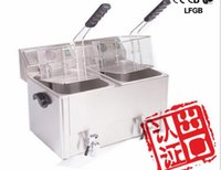 Wholesale Commercial Tea Shop Single Cylinder Electric Frying Pan Stove HDF8 V Chicken Electric Fryer