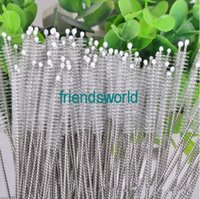 Wholesale Straw Cleaning Brush Nylon Straw Cleaners Cleaning Brush for Drinking Pipe Stainless Steel Glass
