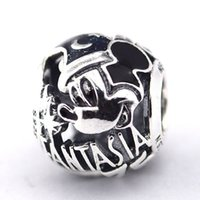 Wholesale Sorcerer Mickey Fantasia th Anniversary Charm Sterling Silver Bead Fit Pandora Fashion Jewelry DIY Charm Brand