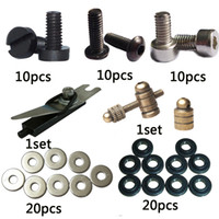 bar machine gun - 1606 BJT Tattoo machine Coils Gun Repair kit with binding post armature bar screws washers