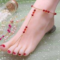 Wholesale Beaded barefoot sandals anklet cheville tornozeleira de ouro pulsera tobillo beach jewelry bijoux bracelet de cheville for woman