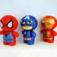 america electric - Children Mini Cartoon USB Fans Portable Electric Fan Spiderman Ironman Captain America Fan Boys Girls Cooling Fan cm LJJP120