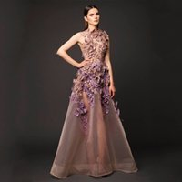apple root - Fashion attractive perspective butterfly flower evening dress Designer Dubai Saudi arabien Sexy European root yarn Evening Dresses