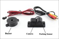 automobile reverse camera - 2in1 automobiles car electronics parking sensors black sensors reversing radar car rear view camera reversing camera waterproof