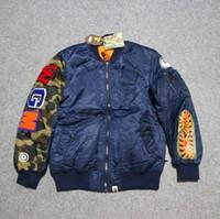 Cheap 2016 fashion brand camouflage shark winter baseball MA1 flight bomber jacket men urban clothing coat mens jackets