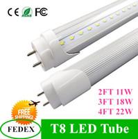 Wholesale 4ft W ft W ft W T8 Led Tube Light Led lighting Fluorescent Tube Lamp m m m tubes