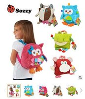 baby gift bags wholesale - 2017 cm Children SOZZY School Bags Lovely Cartoon Animals Backpacks Baby Plush Shoulder Bag Schoolbag Toddler Snacks Book Bags Kids Gift