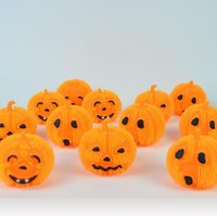 Wholesale Halloween LED Pumpkins Balls Cartoon Pumpkins Emoji Flashing Rubber Ball Children s Toys Design